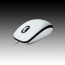 Logitech Mouse M100 White, USB