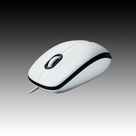 Logitech Mouse M100 White, USB