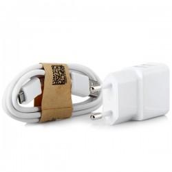 Standartinis dvigubas USB prievado maitinimo adapteris su mikro USB sąsajos kabeliu