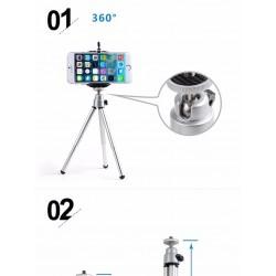 Telefono, fotoaparato objektyvo komplektas 3in1 bei Mini stovas
